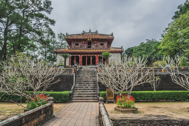 Túmulo do vietnã do imperador em matiz, a unesco heritage