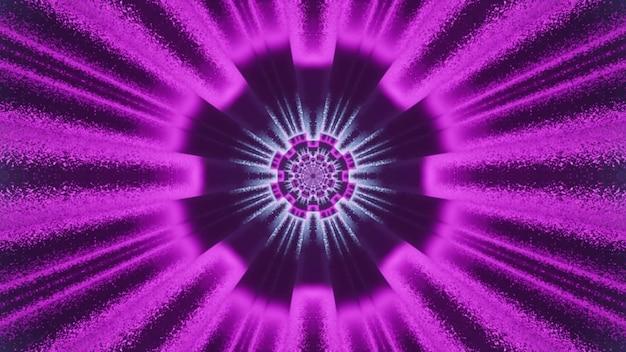 Túnel de espaço virtual com ilustração de raios de néon 4k uhd 3d
