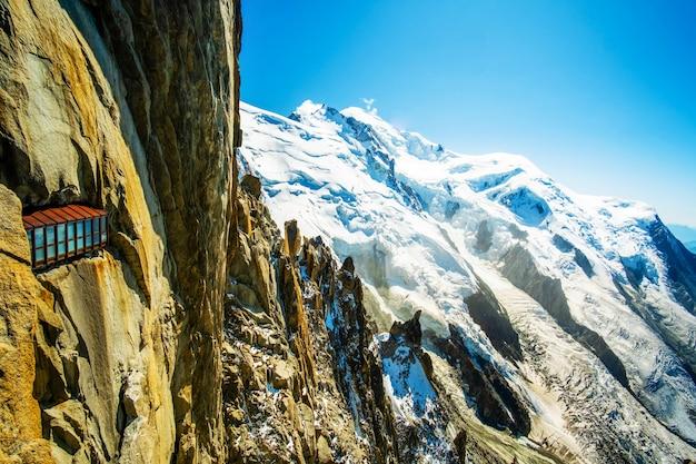 Túnel de visão em montanha alpina