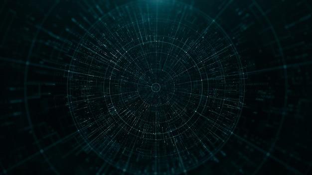 Túnel geométrico de tecnologia abstrata