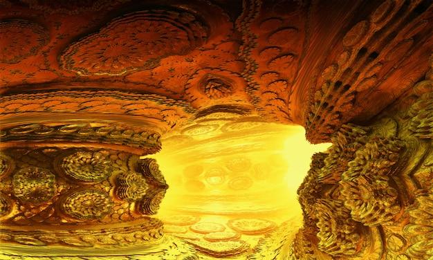 Túnel rochoso abstrato