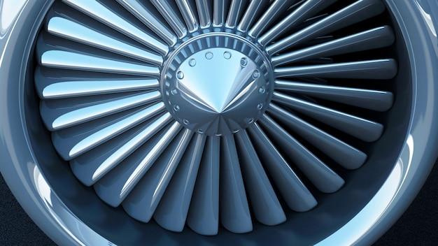 Turbina de motor a jato de avião moderno
