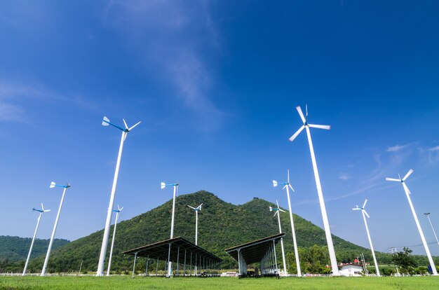 Turbinas de energia eólica.
