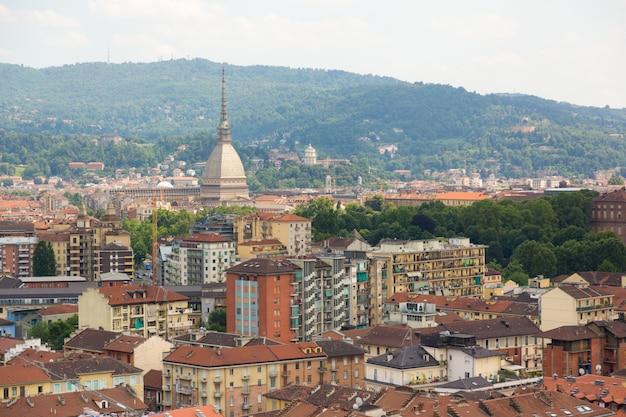 Turim, itália, vista aérea