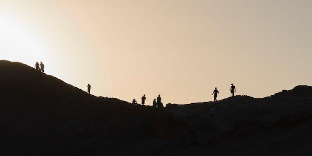 Turistas, em, valle la launa, san pedro atacama, el loa, província, região antofagasta, chile