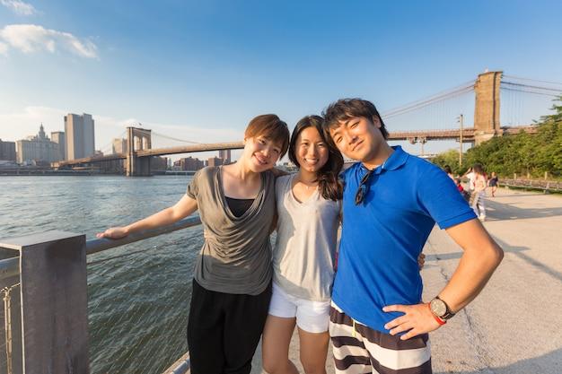 Turistas japoneses em nova york