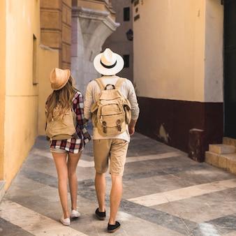 Turistas que gostam do caminho