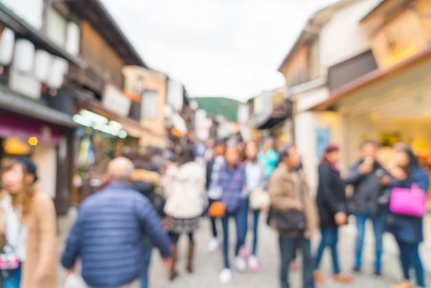 Turistas turva andar na rua
