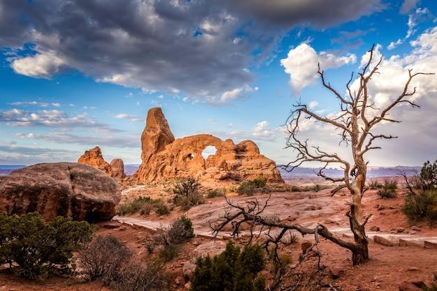Turret arch no parque nacional arches, utah