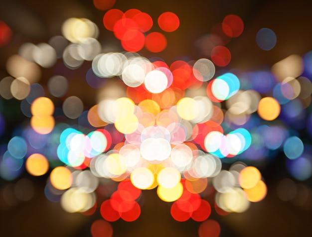 Turva da noite cidade rua luzes bokeh de fundo