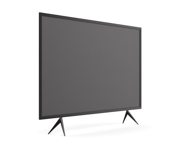 Tv em fundo branco
