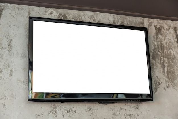 Tv grande com tela em branco