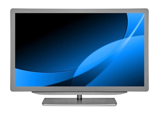 Tv plana com fundo branco