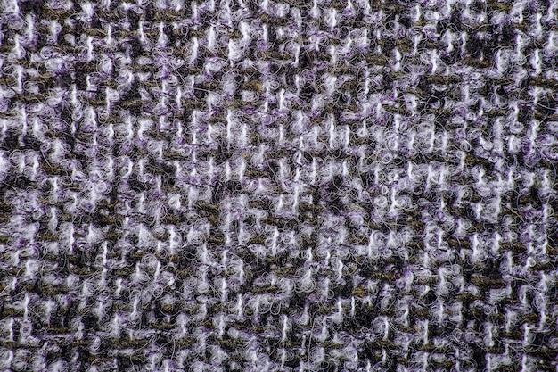 Tweed multicolorido como textura, padrão de lã multicolorido, espaço de cópia de fundo de tecido de estofamento melange texturizado. textura de fundo de sarja