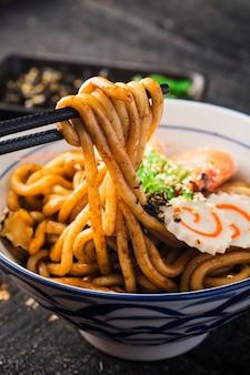 Udon ramen de frutos do mar