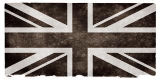 Uk grunge bandeira preta e branca