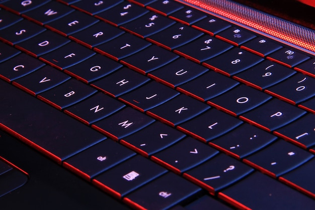 Um botão do teclado no laptop