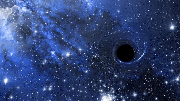 Um buraco negro no espaço sideral, estrelas profundas de fantasia científica abstrata do universo,