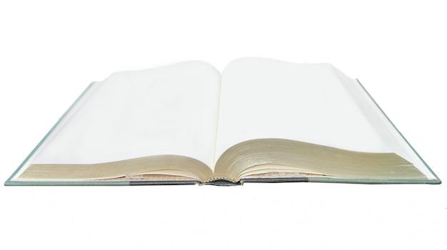 Um caderno em branco aberto