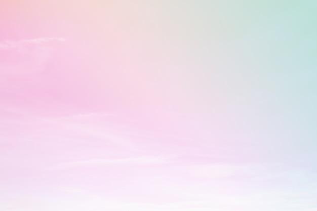 Um céu suave com um fundo de cor pastel