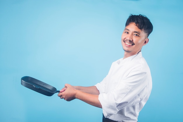Um chef masculino asiáticoœgray