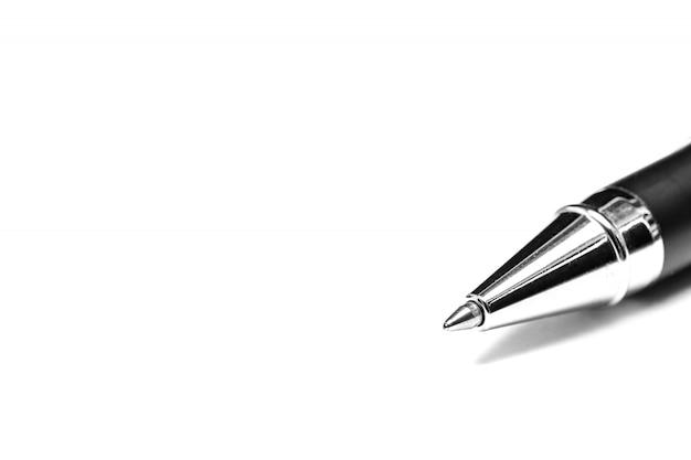 Um close de caneta esferográfica
