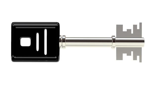 Um close-up de chave de prata