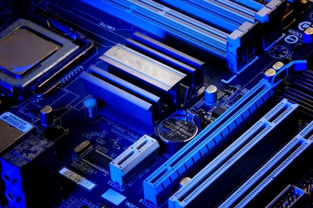 Um componente da placa-mãe do computador