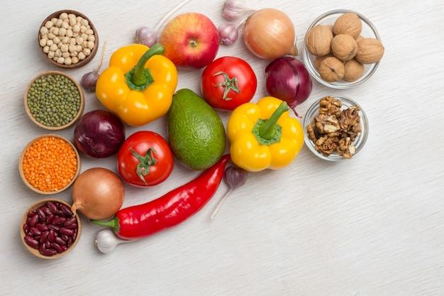 Um conjunto de vegetais para uma dieta saudável