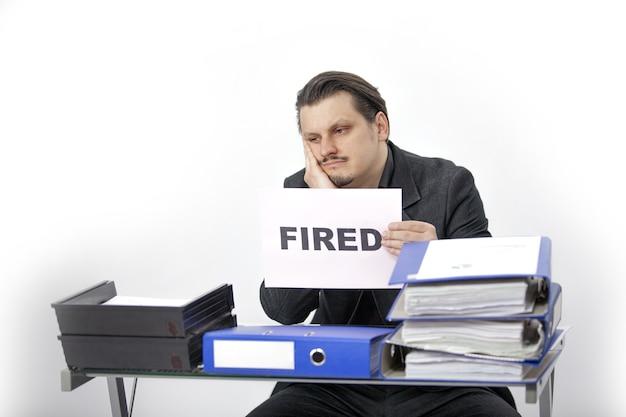 Um contador demitido