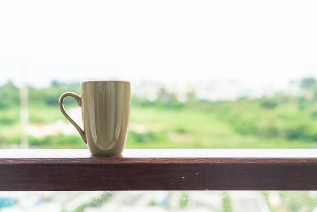 Um copo de café