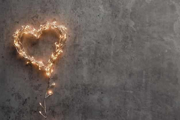 Um coração brilhante. dia dos namorados. cartão dos namorados