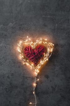 Um coração brilhante.