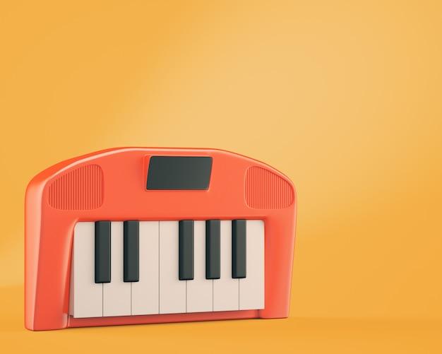 Um desenho animado estilo sintetizador em fundo laranja