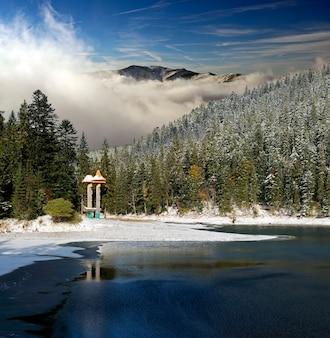 Um dia gelado nas montanhas