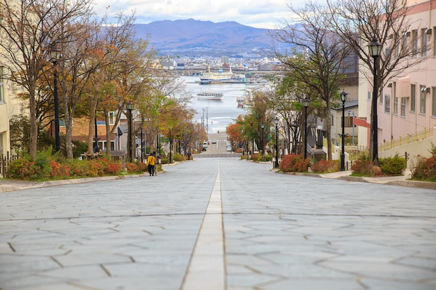 Um do lugar famoso em hakodate hokkaido japão. um dos lugares famosos no japão.