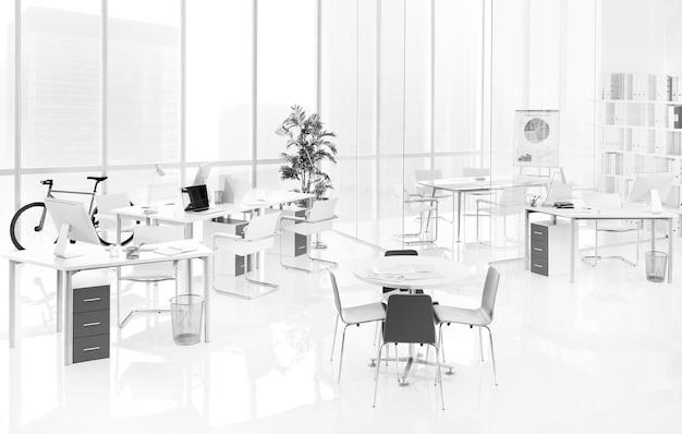 Um escritório vazio
