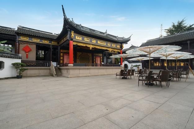 Um estágio antigo em zhouzhuang, suzhou, china