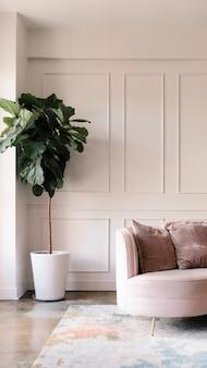 Um estilo de sala de estar moderno