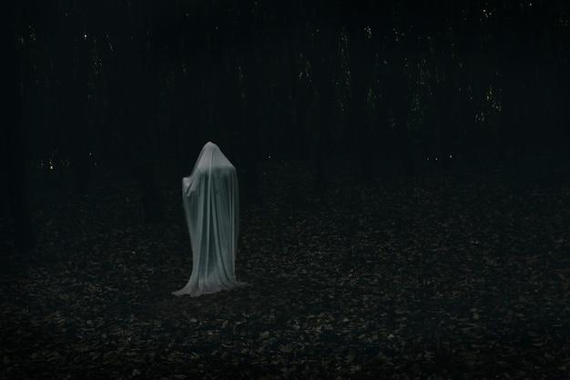 Um fantasma em uma floresta escura