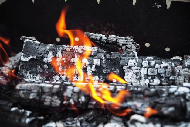 Um fogo quente e vívido. o conceito de lazer e estilo de vida.