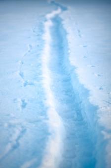 Um, footpath, em, um, paisagem inverno