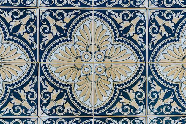 Um fundo de azulejo português com um mosaico