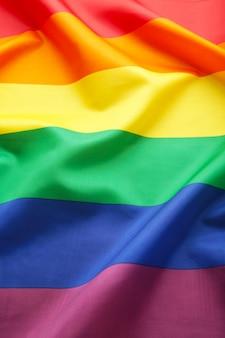 Um fundo de bandeira de arco-íris com espaço de cópia