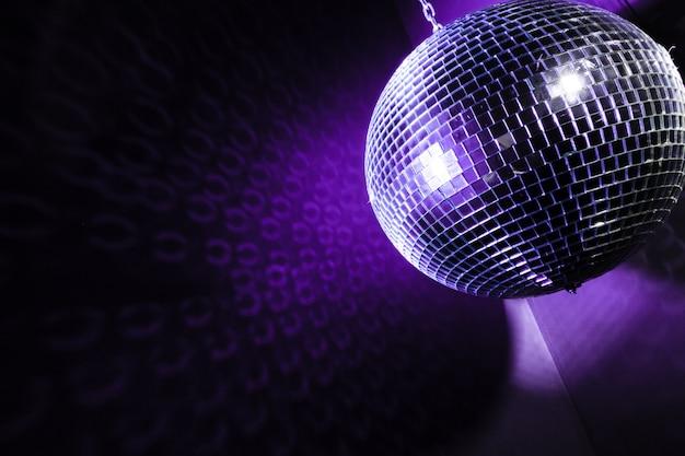 Um fundo de bola de discoteca espelho
