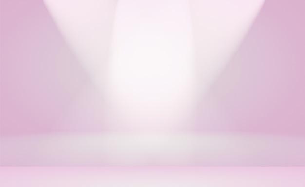 Um fundo suave de gradiente vintage com um poço de cor pastel usado como estúdio, apresentação de produto e banner.