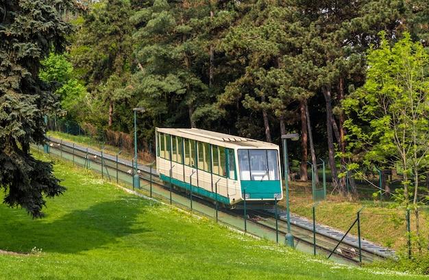 Um funicular em praga