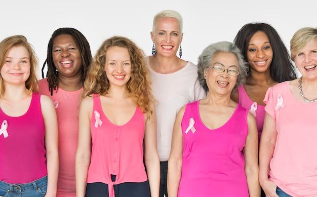Um grupo de mulheres diversas