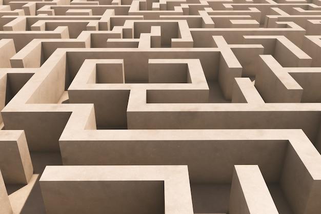 Um labirinto divertido. vista aérea.