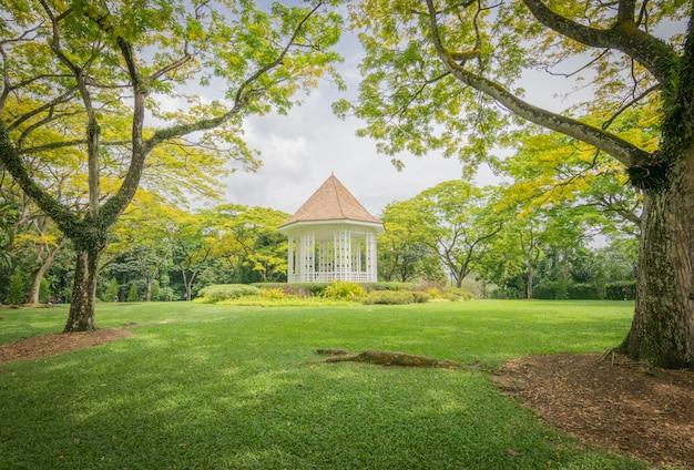 Um lindo jardim em cingapura